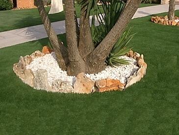 brispedra exemplos decorativos para jardim castanho