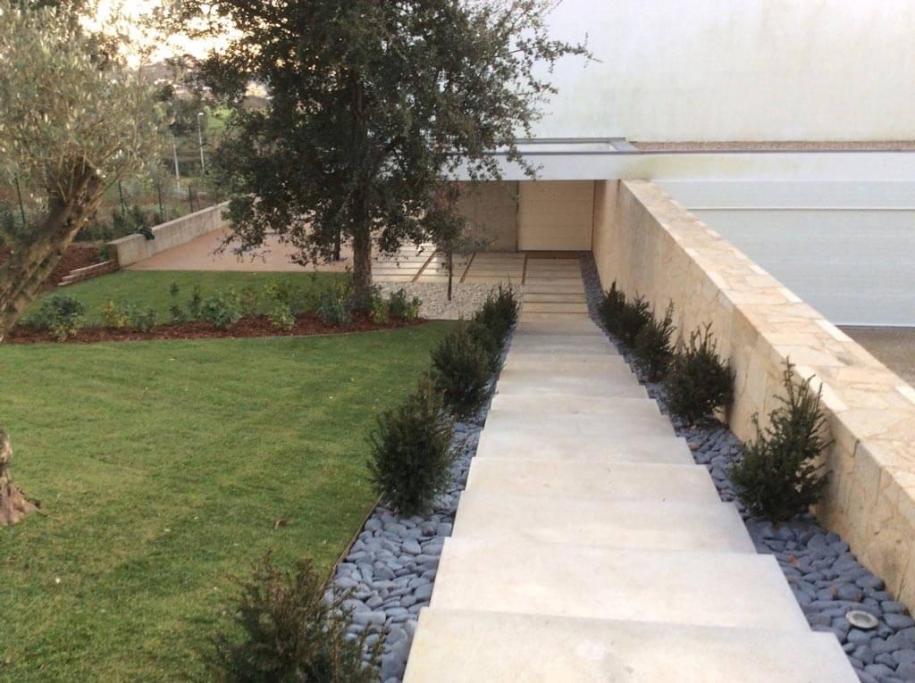 pedra para jardim e placa xisto
